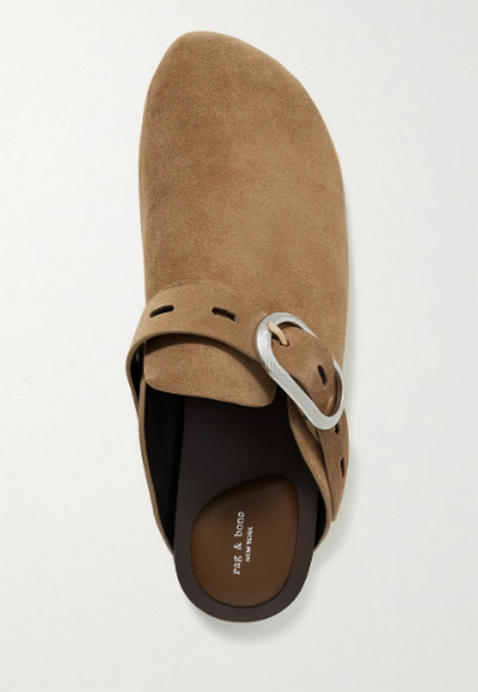suede slippers με αγκράφα