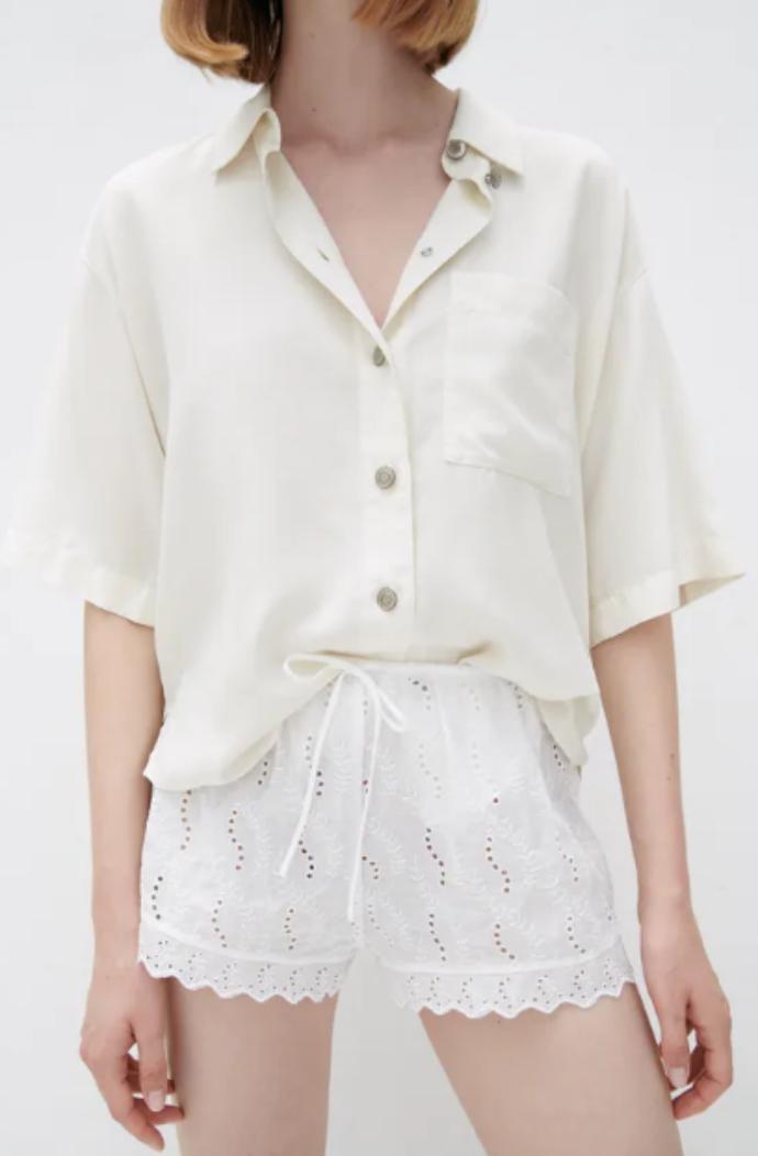 ριχτό πουκάμισο με τσέπη