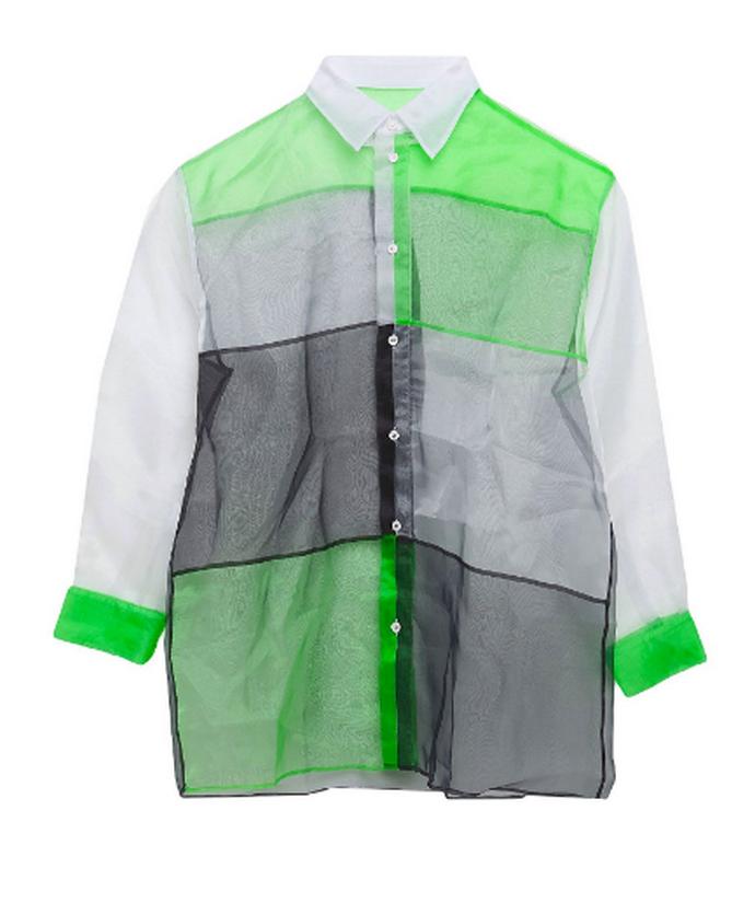 Ριγέ πουκάμισο με διαφάνεια