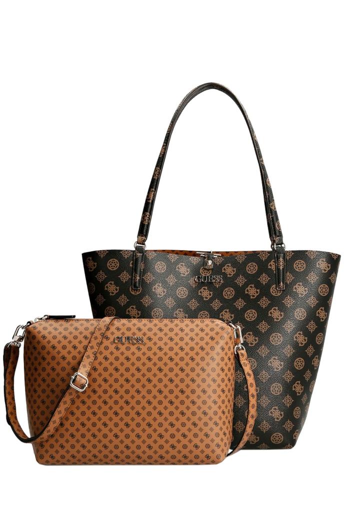 Τσάντα shopper δύο όψεων & εσωτερική crossbody τσάντα με αποσπώμενο λουρί ώμου.