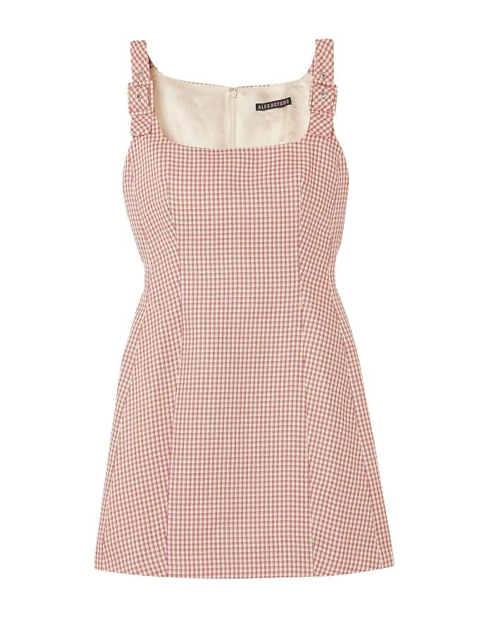 Εφαρμοστό φόρεμα καρό μίνι