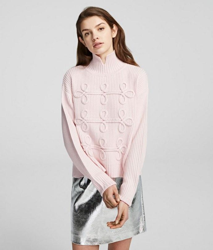 ροζ πουλόβερ