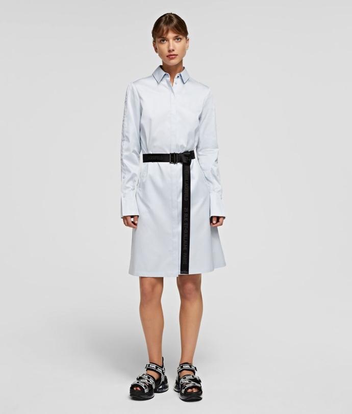 midi shirt dress από ποπλίνα