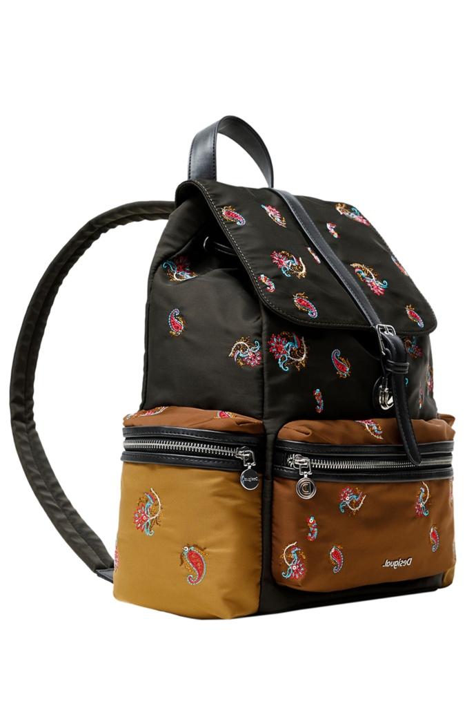 Backpack τσάντα με κέντημα paisley