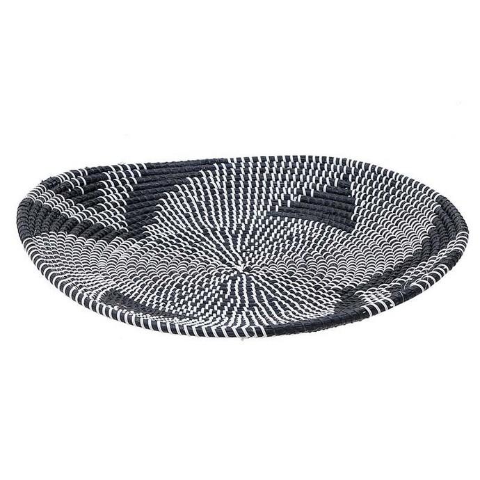 Πιατέλα Ψάθινη Μαύρη/Λευκή Δ51Χ7