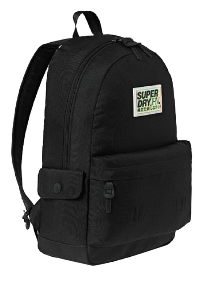 Τσάντα backpack από συνθετικό καμβά με ενισχυμένο πάτο.
