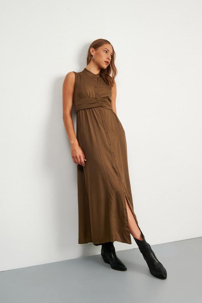 midi σεμιζιέ φόρεμα