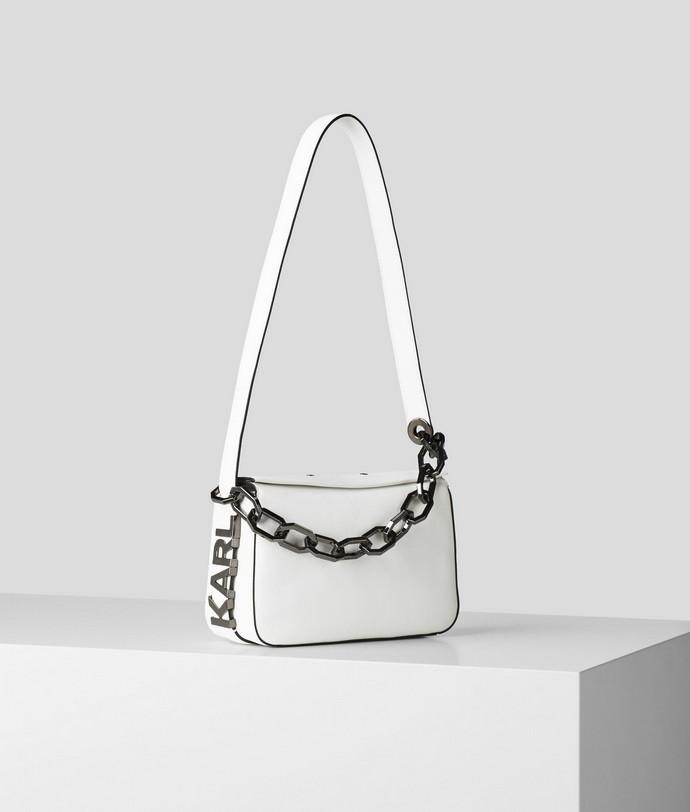 Δερμάτινη τσάντα ώμου με logo