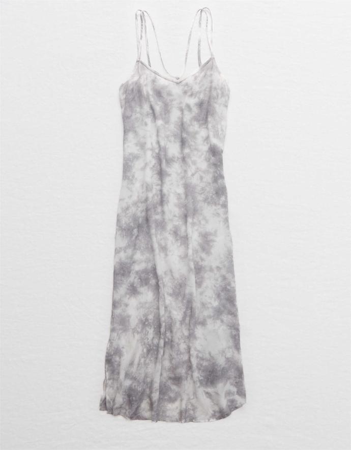 slip dress με tie dye μοτίβο