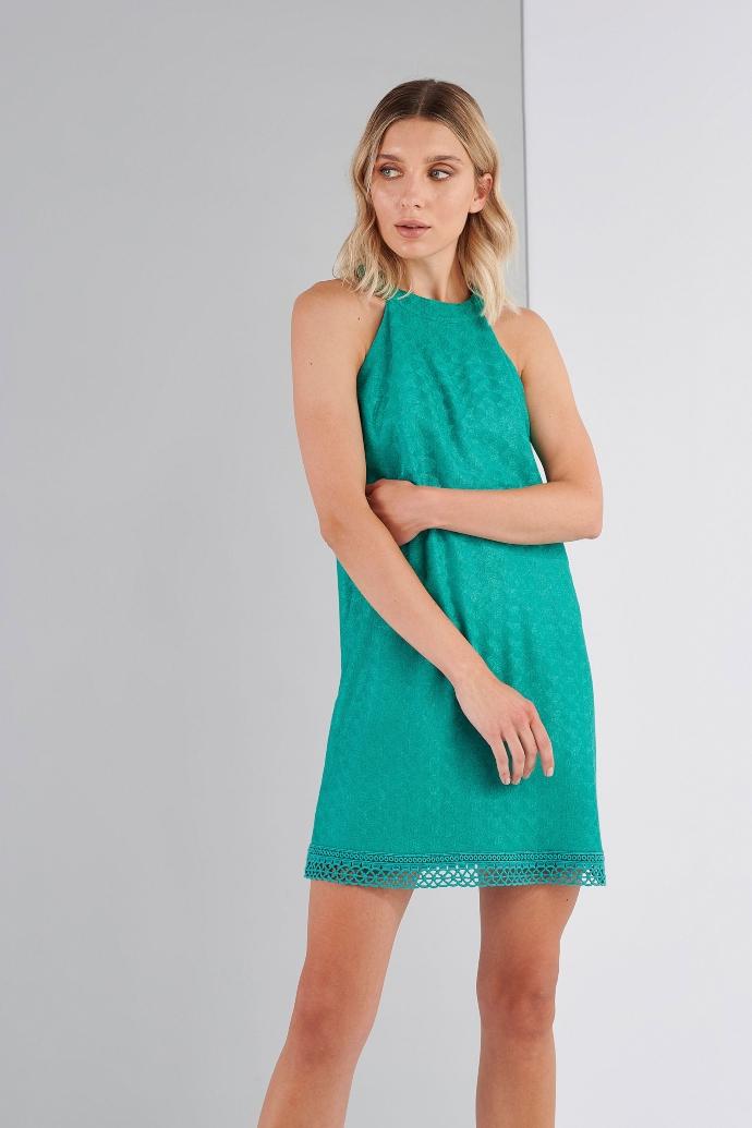 μίνι κοντό φόρεμα με halter neck