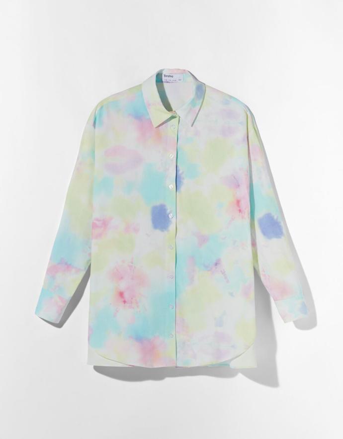 πουκάμισο από ποπλίνα tie dye
