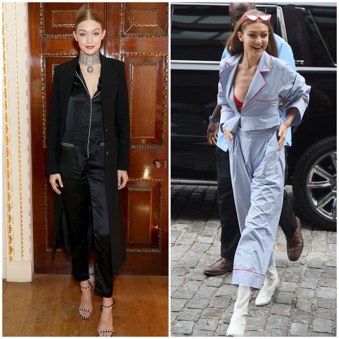 pijama look Gigi Hadid