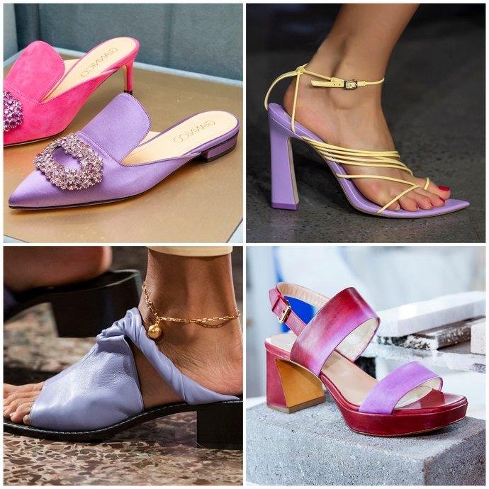 λιλά παπούτσια