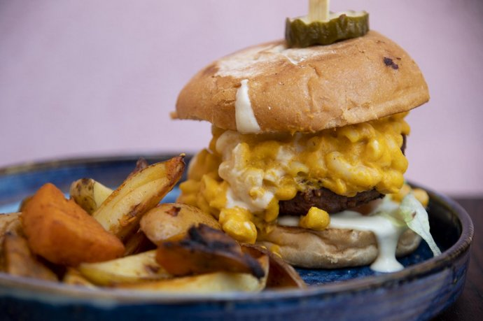 Healthies vegan burger