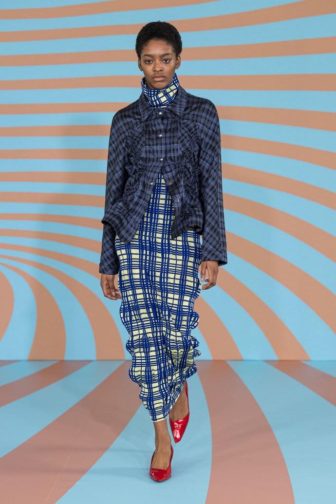 Το καρό στην πρώτη γραμμή της Εβδομάδας Μόδας του Λονδίνου