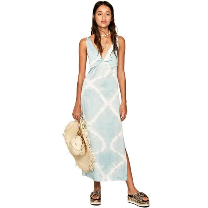 μάξι φόρεμα με tie dye print