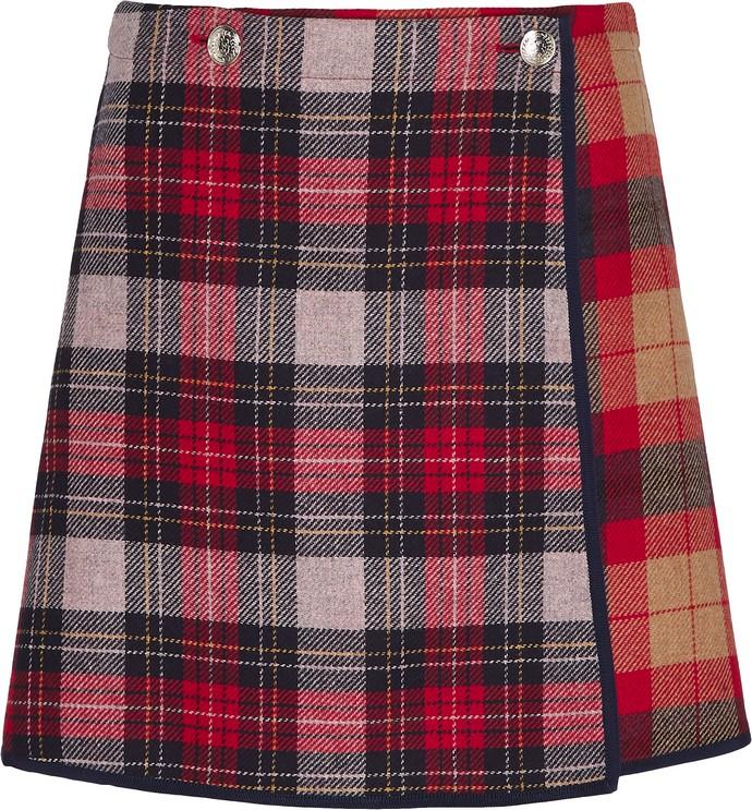 Μίνι καρό φούστα από κασμίρ Tommy Icons