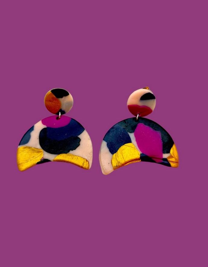 Statement πολύχρωμα σκουλαρίκια