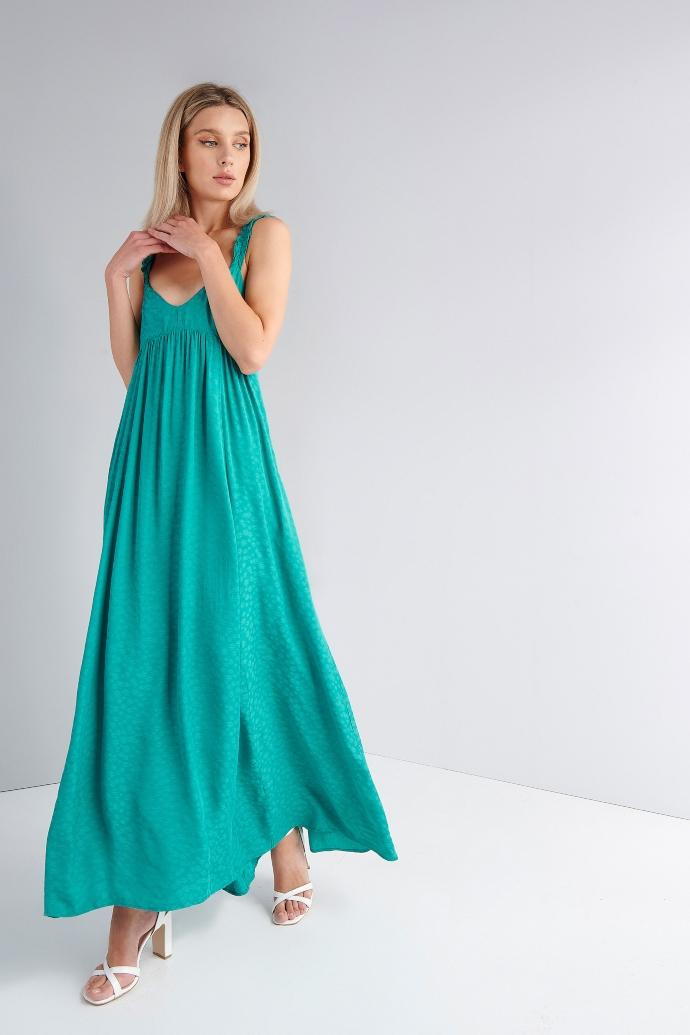μάξι φόρεμα με σχέδιο στο ύφασμα