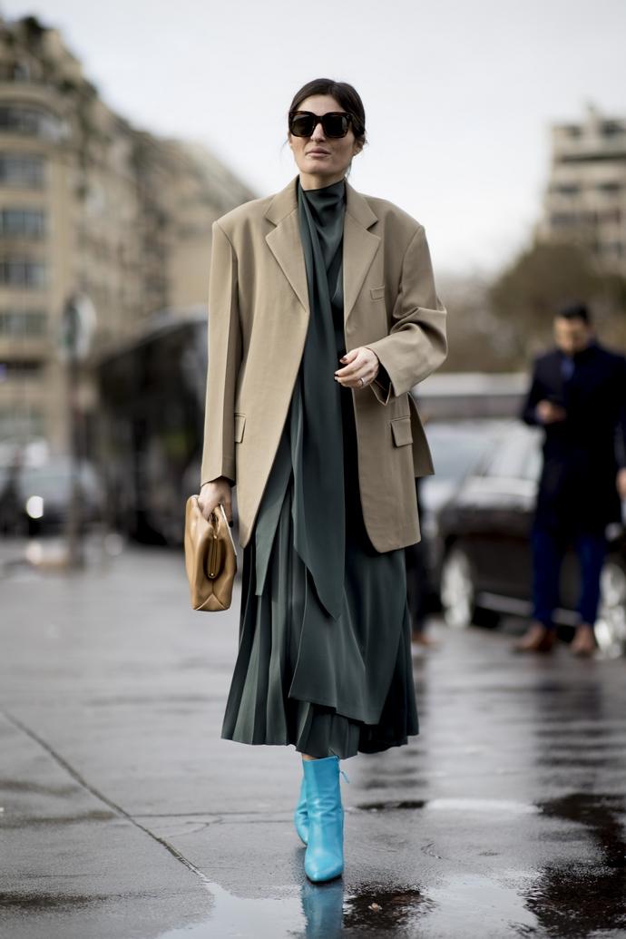Μακρύ φόρεμα και σακάκι