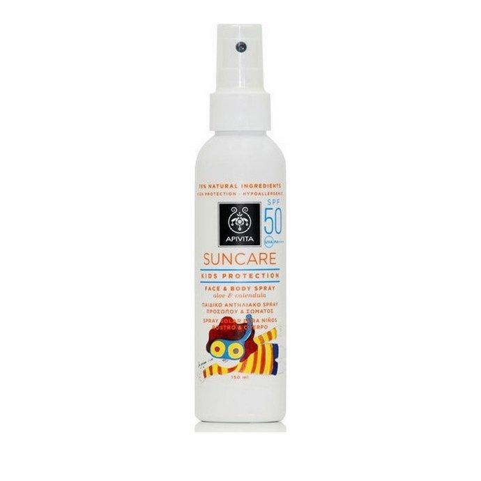Apivita Suncare Kids Protection Face & Body Spray SPF50