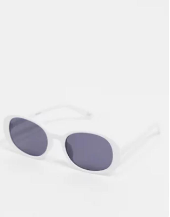 οβάλ λευκά γυαλιά από ανακυκλώσιμα υλικά