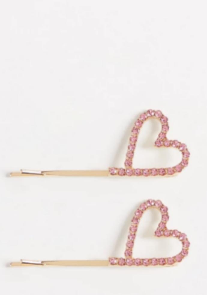 Τσιμπιδάκια σε σχήμα καρδιάς (σετ των 2)