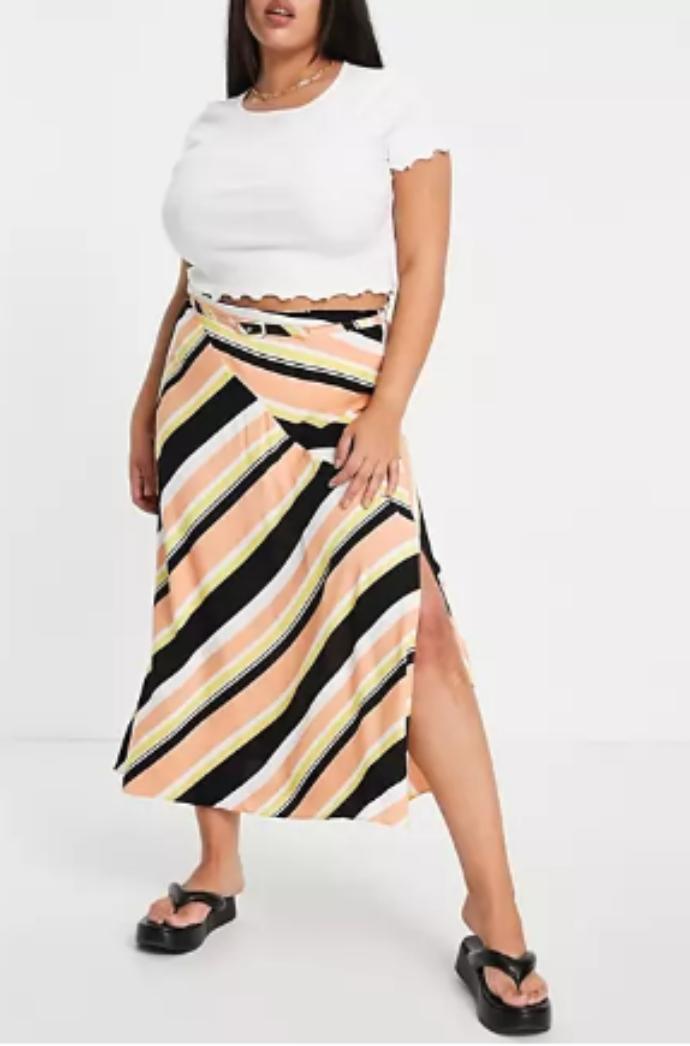 midi wrap φούστα με print