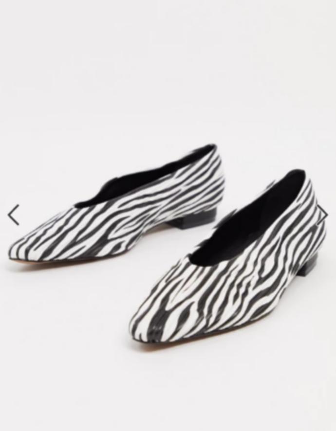 μπαλαρίνες με zebra print