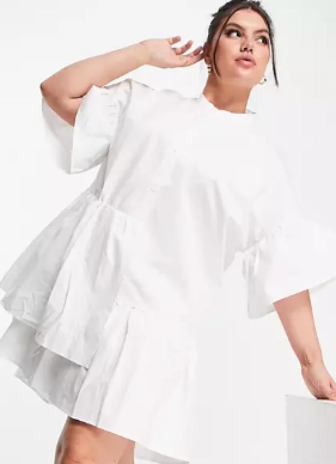smock dress με βολάν