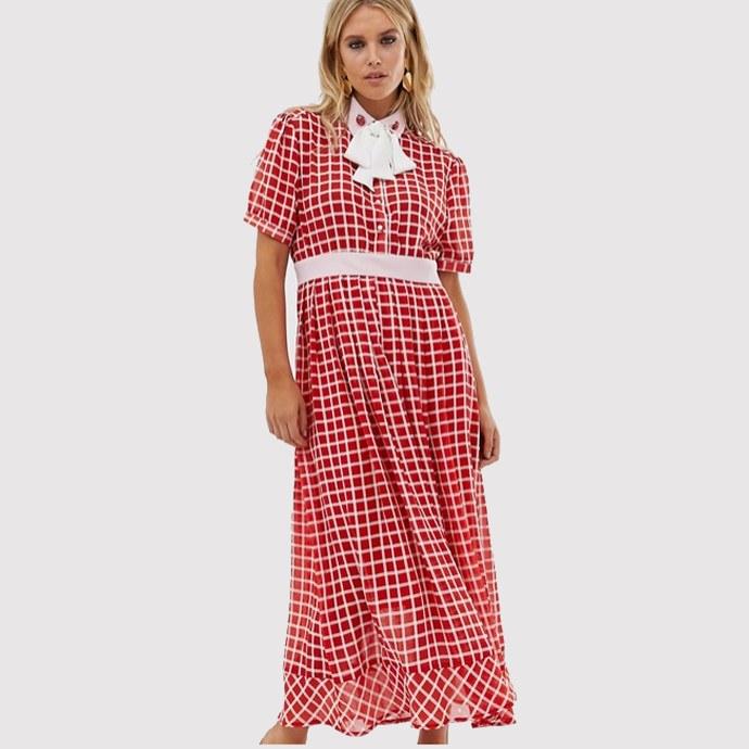 checked φόρεμα