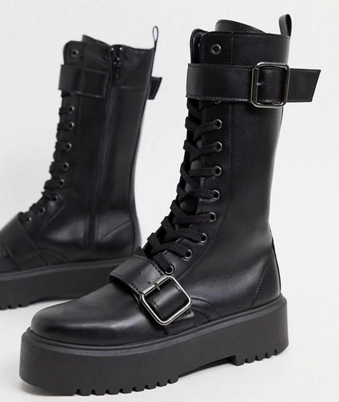 Ashford chunky buckle boots
