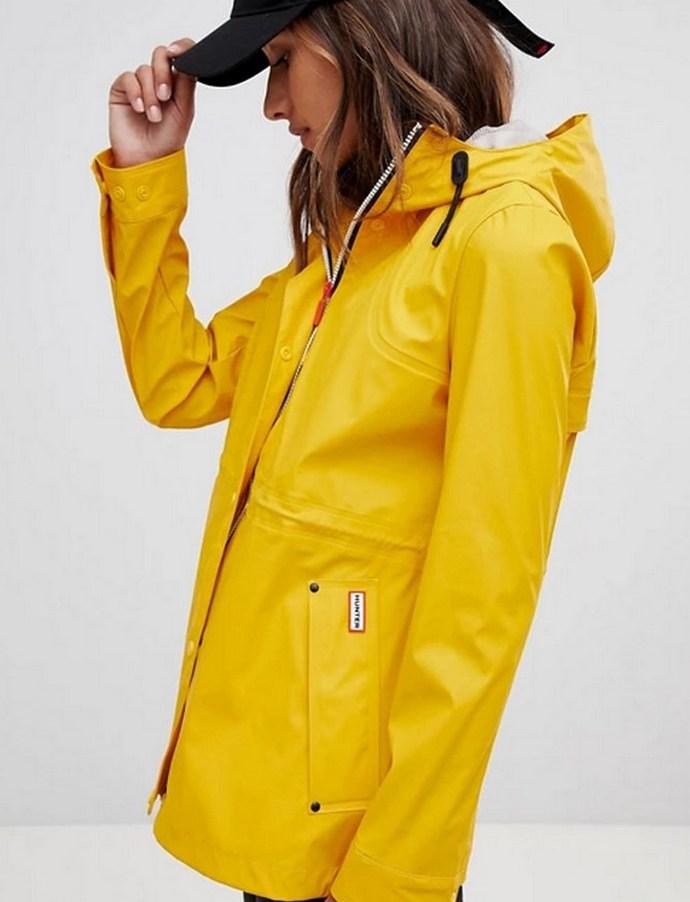 Αδιάβροχο πανωφόρι σε κίτρινο χρώμα