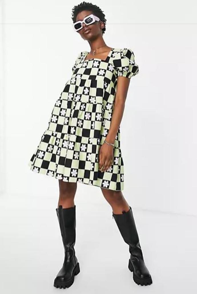 mini smock floral φόρεμα