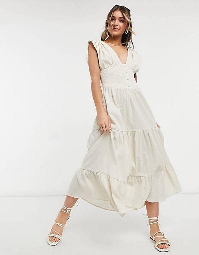 Μίντι φόρεμα με κουμπιά