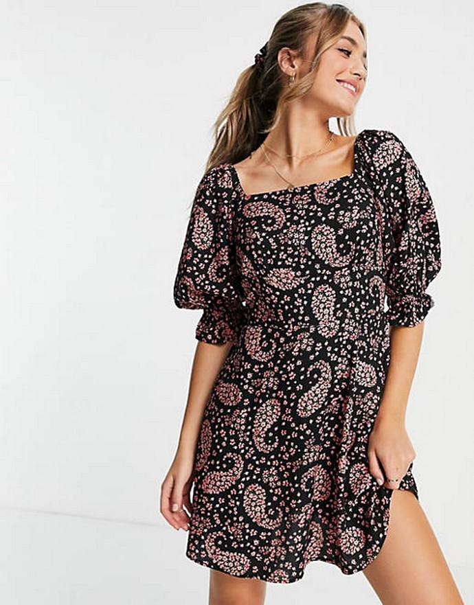 Μίνι printed φόρεμα