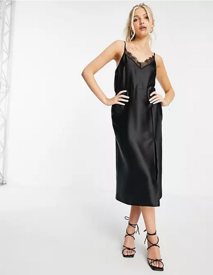 Σατέν slip dress