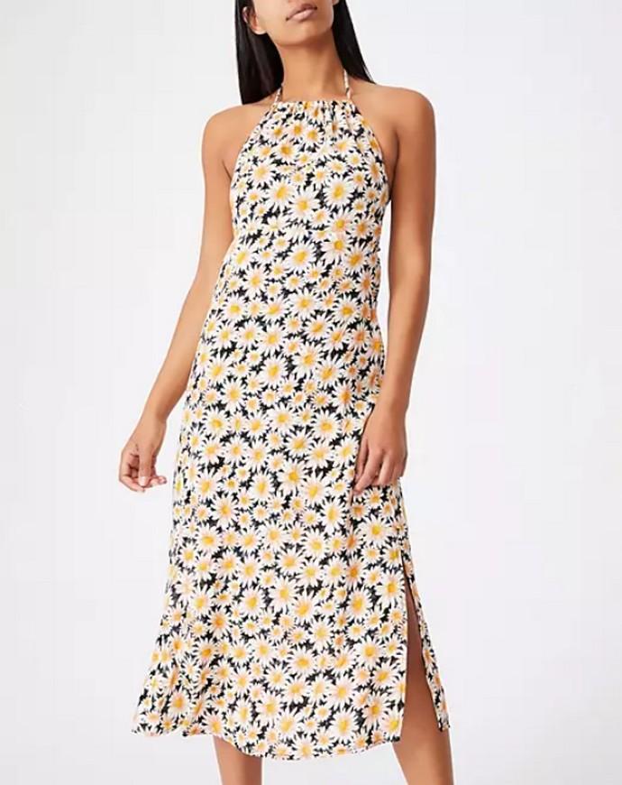 Φλοράλ halter dress