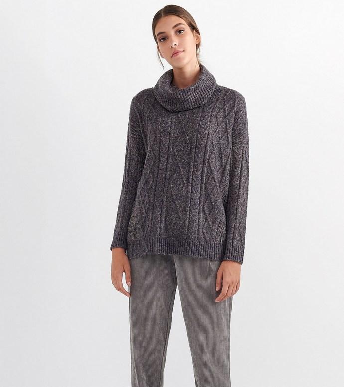 cable knit πουλόβερ