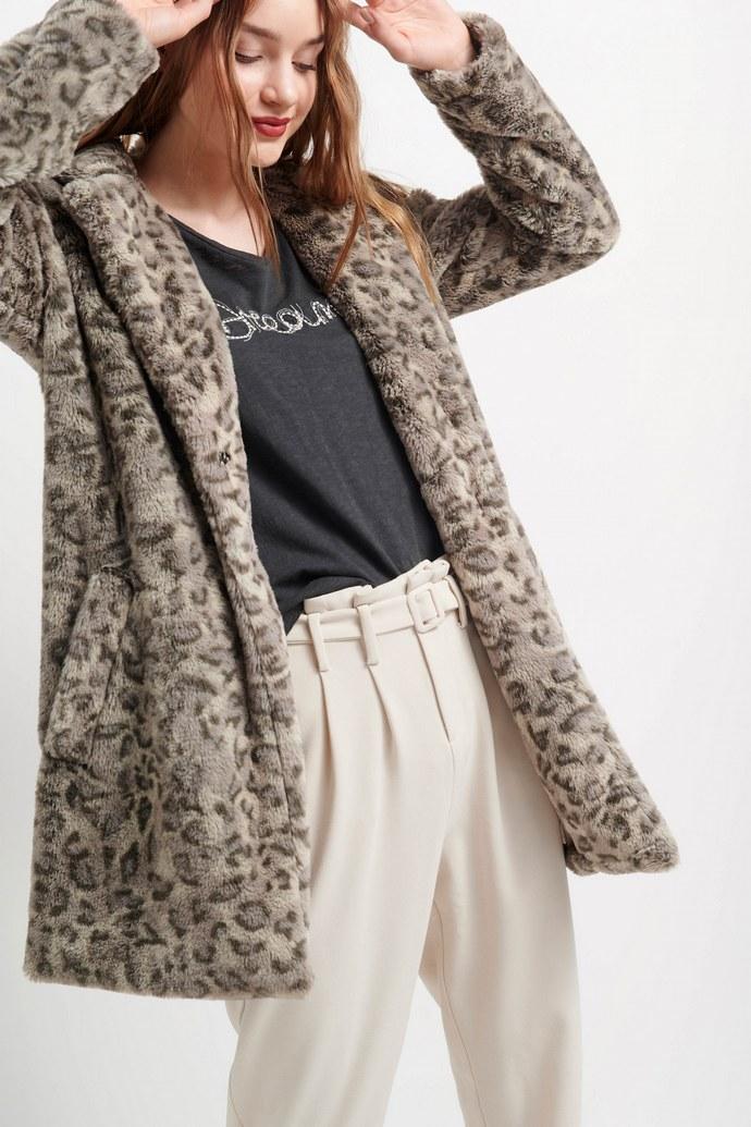 animal print παλτό