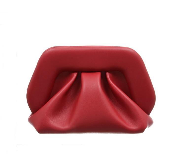 Clutch δερμάτινη τσάντα