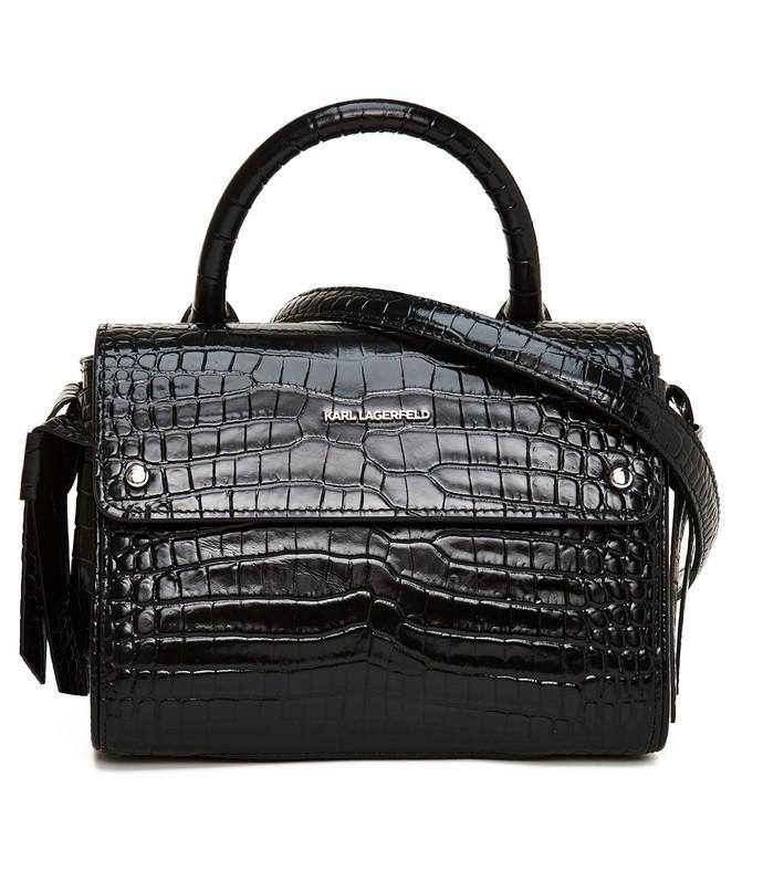 Tσάντα χειρός με crocodile print