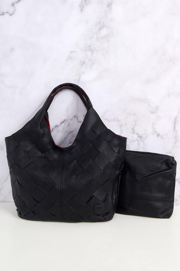 Τσάντα ώμου με πλέξη