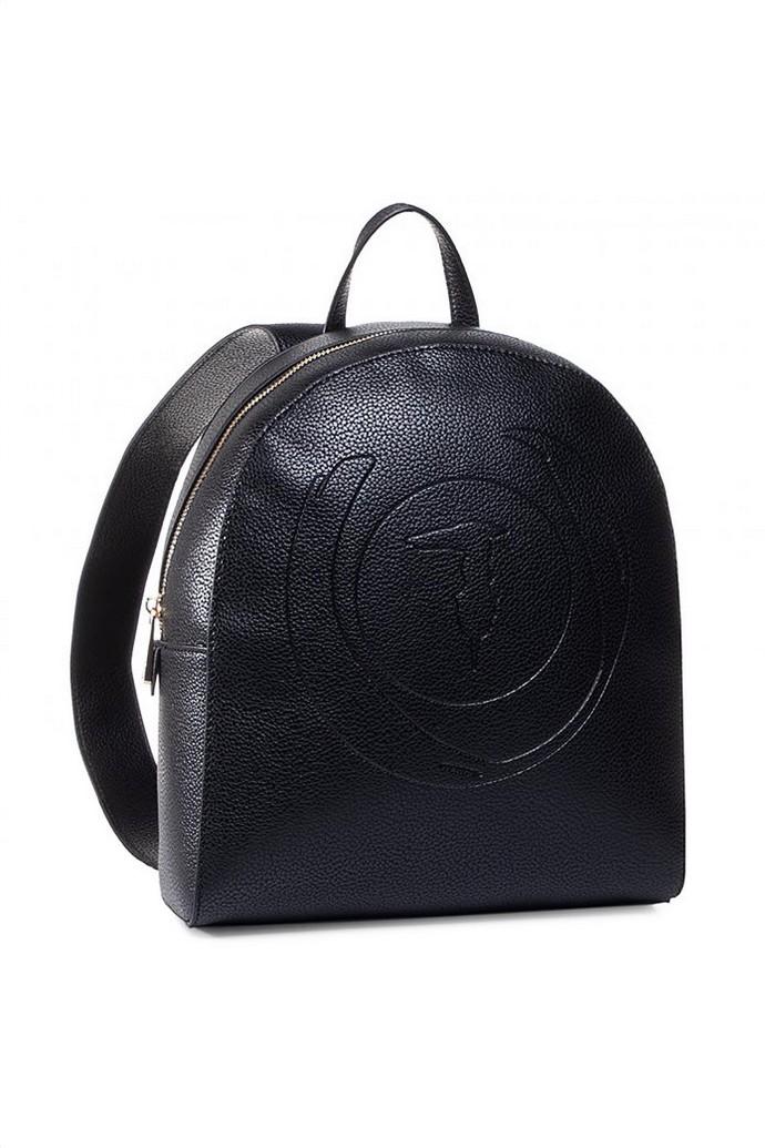Δερμάτινο backpack με ανάγλυφο μοτίβο