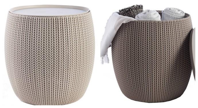Τραπέζι Keter κνιτ πλαστικό καφέ 40,6 x 40,6 x 41,3 εκ.