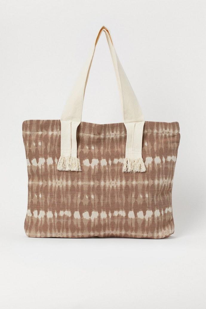 Shopper bag με tie-dye μοτίβο