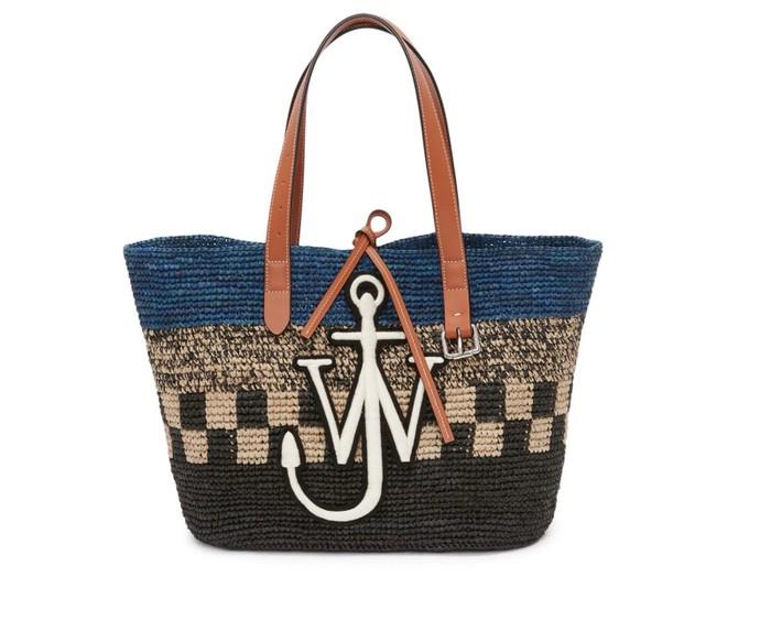 Ψάθινη τσάντα με logo