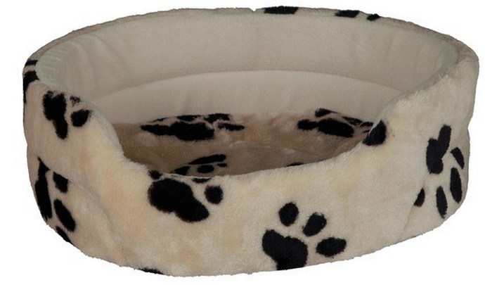 Κρεβατάκι σκύλου με γούνινη υφή και αφαιρούμενο μαξιλάρι