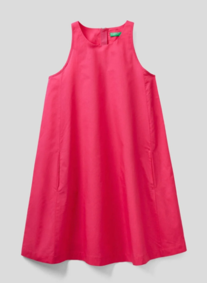 Φόρεμα αμάνικο trapeze
