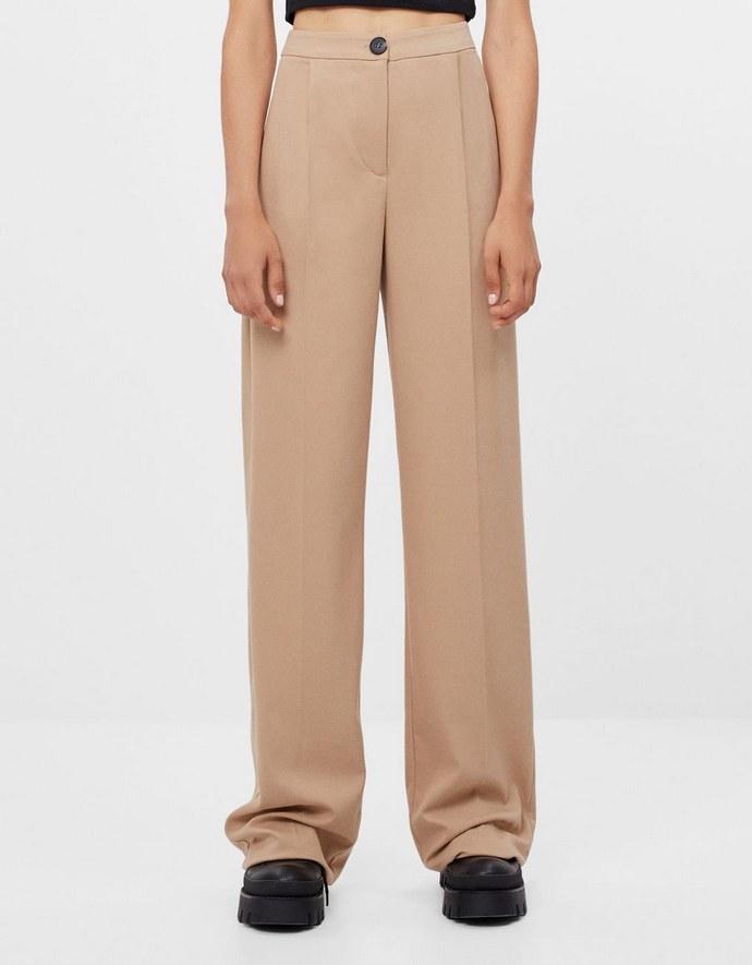 Παντελόνι Wide Leg σε camel χρώμα